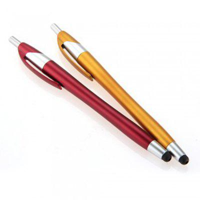 2pcs 2 in 1 Creative Ball Pen Style Capacitive Touch Screen Stylus