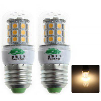 2Pcs Zweihnder QR - E27 - 30 E27 3W 280Lm 30 x SMD 5050 LED Corn Bulb Warm White Light ( 3000 - 3500K )