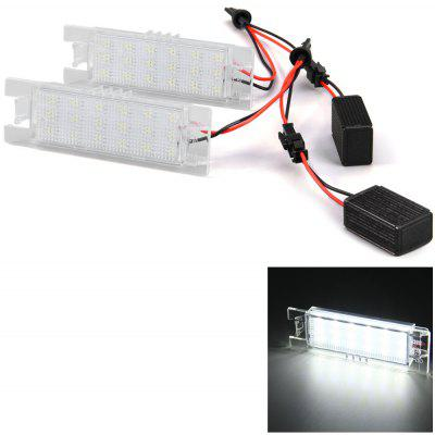 renault scenic 54 plate fuse box vauxhall corsa 53 plate fuse box 2pcs 12v number license plate lamp with 18 leds for opel ...