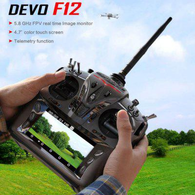 Walkera DEVO F12 12CH RC Transmitter 5.8G FPV Controller with 4.7inch Color Touch Screen + Telemetry Function