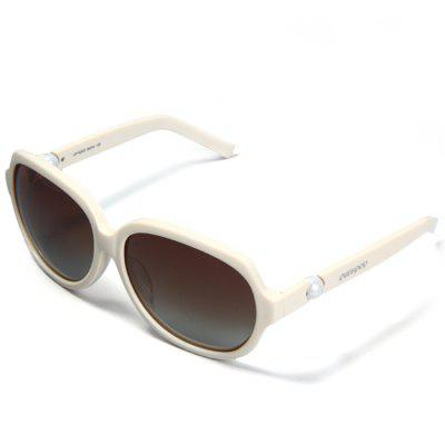 Ourspop OP  -  1925 / C Outdoor Sports Gray Polarized Lens White Frame Sun Glasses for Women