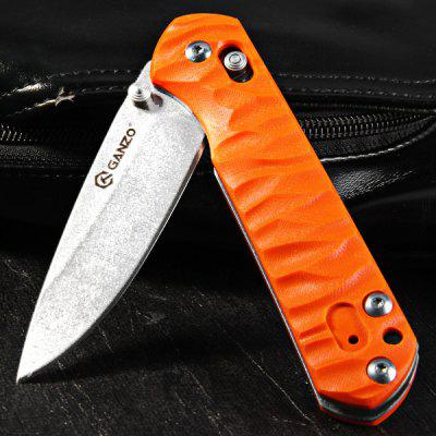 Ganzo G717 Portable Axis Locking Foldable Camping Hunting Knife 440C Stainless Steel Blade