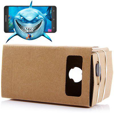 iBlue DIY Cardboard 3D VR Glasses Smart Phone 3D Private Theater with Magnetic Sensor for 4 - 5.5 inches Smartphone