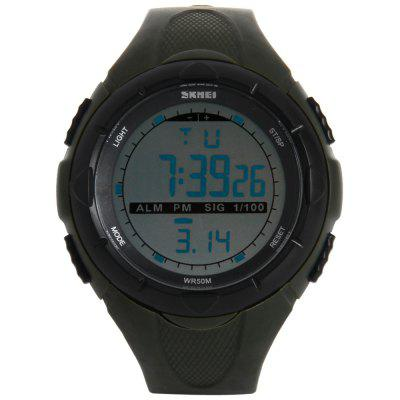 Skmei 1025 Multi - function LED Military Army Watch 50M Water Resistant for SportsSports Watches<br>Skmei 1025 Multi - function LED Military Army Watch 50M Water Resistant for Sports<br><br>Available Color: Black,Green<br>Band material: PU<br>Brand: Skmei<br>Case material: PC<br>Clasp type: Pin buckle<br>Display type: Digital<br>Movement type: Digital watch<br>Package Contents: 1 x Watch<br>People: Unisex table<br>Product size (L x W x H): 26 x 5.0 x 1.5 cm / 10.2 x 2.0 x 0.6 inches<br>Product weight: 0.053 kg<br>Shape of the dial: Round<br>Special features: Stopwatch, Week, Date, Alarm Clock, EL Back-light<br>The band width: 2.0 cm / 0.8 inches<br>The dial diameter: 5.0 cm / 2.0 inches<br>The dial thickness: 1.5 cm / 0.6 inches<br>Watch style: Fashion&amp;Casual, Outdoor Sports, LED, Military<br>Water resistance: 50 meters