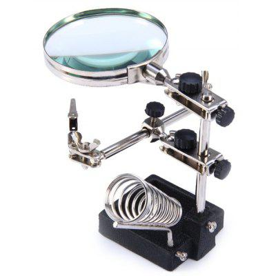 WLXY JM - 508 Multi-functional Welding Magnifying Glass Soldering Iron Stand Holder Table Magnifier