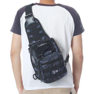 Buy BLACK Durable Nylon Army Tactical Water Resistant Single Shoulder Bag 5L Capacity for $10.75 in GearBest store