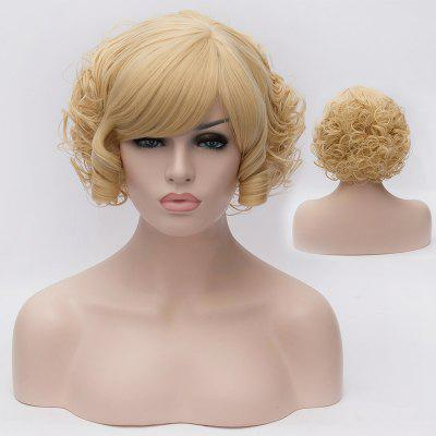 Buy COLORMIX Trendy Fluffy Side Bang Short Curly Synthetic Charming Light Blonde Capless Wig For Women for $15.69 in GearBest store