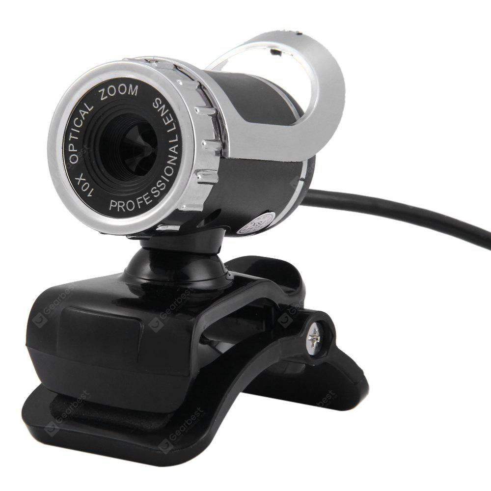 HD Clip-on Webcam 360 Degree Rotatable Web PC Camera with MIC for PC Laptop Computer