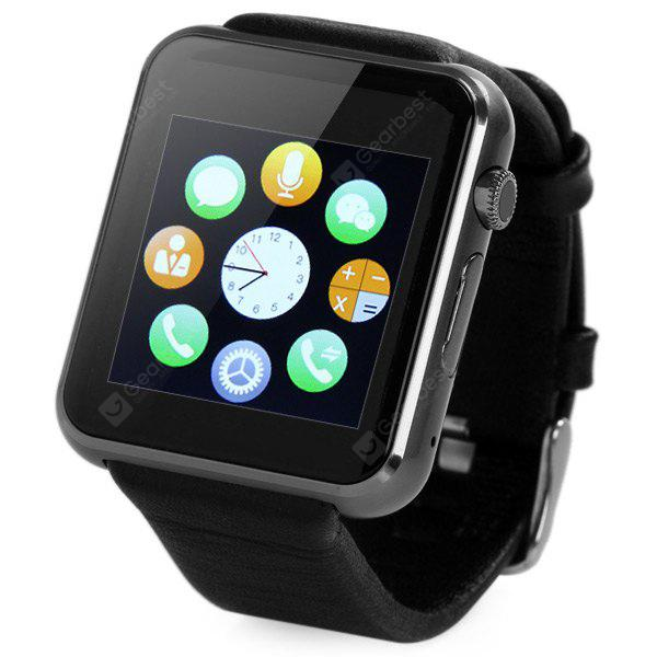 D Watch 2 Smart Watch Bluetooth 3.0 Genuine Leather Band GSM Phone with Sedentary Reminder