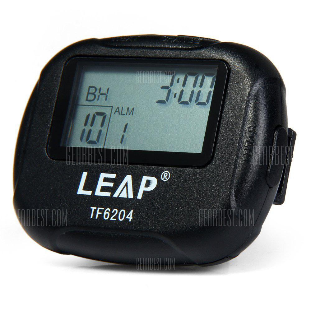 LEAP TF6204 Interval Timer for Yoga Hiit Cardio Tabata with LCD BLACK