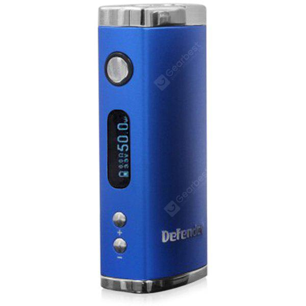 Original Heatvape Defender 50W VV / VW Variable Wattage E - cig Box Mod Digital Display OLED Screen 510 Thread BLUE