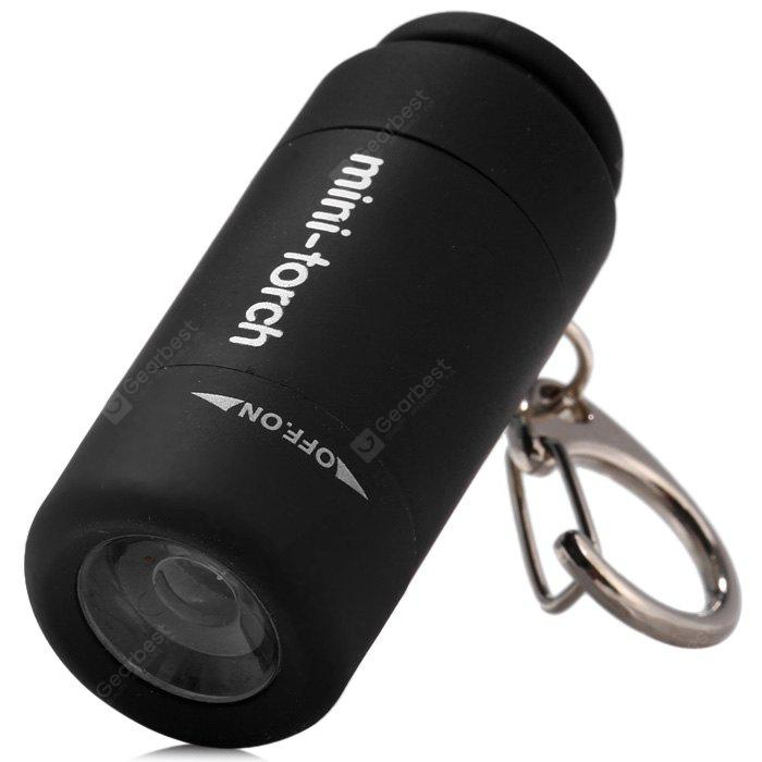 25 Lumens Portable Torch Keychain Pocket USB Rechargeable LED Light Flashlight Lamp for Outdoor Supplies