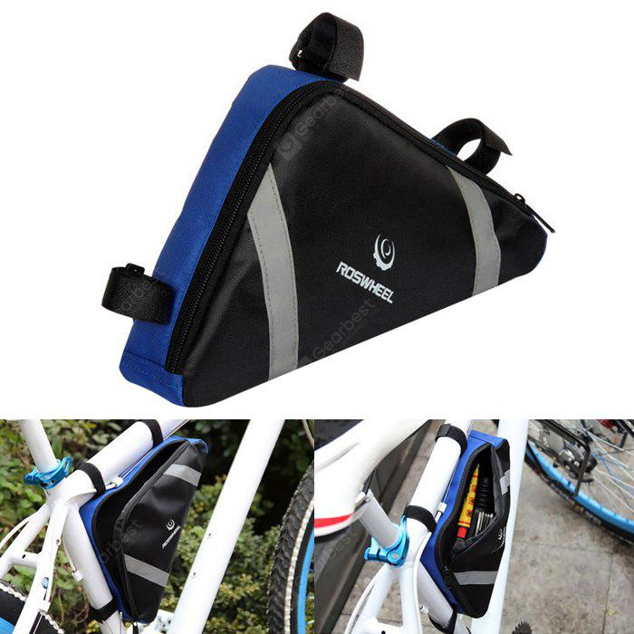 Roswheel 12490 Bike Cycling Frame Front Tube Triangle Tool Bag with Reflective Bars