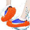 Chenille Mopping Slippers Quick Home Pair Floor Polishing Dusting Practical Cleaning Shoes - BLUE