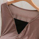 Sexy V-Neck Dolman Sleeve Faux Twinset Design T-Shirt For Women deal