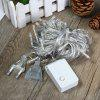 20 Meters 200 LEDs Cool White Fairy String Light for Outdoor Festival Party Decoration ( EU Plug ) - COOL WHITE LIGHT