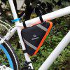 Roswheel 12490 Bike Cycling Frame Front Tube Triangle Tool Bag with Reflective Bars - BLUE