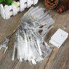 100 LED 10 Meters Christmas Fiber Optic Fairy String Light for Holiday / Halloween / Wedding / Party Indoor / Outdoor Decoration ( Cool White EU Plug ) - COOL WHITE LIGHT