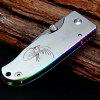 Sanrenmu 4024 LUE-SCX Small Line Locking Foldable Knife Colorful Edge Stainless Steel Blade - COLORFUL