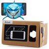 iBlue DIY Cardboard 3D VR Glasses Smart Phone 3D Private Theater with Magnetic Sensor Support NFC for 3.5 - 5.5 inches Smartphone - DARK KHAKI
