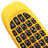 C120 2.4GHz Wireless QWERTY Keyboard + Air Mouse + Remote Control for Windows / Mac OS / Linux / Android - YELLOW