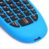 C120 2.4GHz Wireless QWERTY Keyboard + Air Mouse + Remote Control for Windows / Mac OS / Linux / Android - BLUE