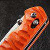 Ganzo G717 Portable Axis Locking Foldable Camping Hunting Knife 440C Stainless Steel Blade - ORANGE