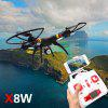 SYMA X8W WiFi FPV Headless Mode 2.4G Remote Control Quadcopter with HD 0.3MP Camera 6 Axis Gyro 3D Roll Stumbling UFO - FULL BLACK