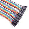 40-Pin F - F Rainbow Dupont Cable Female to Female Jumper Wire for Arduino - COLORMIX