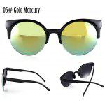 Buy 05# GOLD MERCURY, Apparel, Glasses, Stylish Sunglasses, Women's Sunglasses for $3.37 in GearBest store