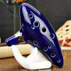 12 Holes Ocarina Ceramic Alto C Legend of Zelda Ocarina Flute Blue Instrument - BLUE