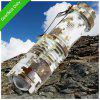 SK68 XPE Q5 400LM 5500K Zooming LED Armee Taschenlampe - SCHNEE-LAND CAMOUFLAGE