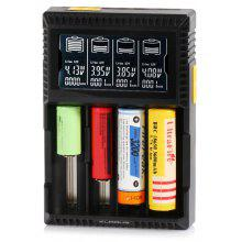 Klarus CH4S Intelligent Four Slots Battery Charger with LCD for Lithium-ion / Ni-MH / Ni-Cd Batteries - EU Plug