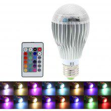 BRELONG E27 400LM 16 Color Changing 10W RGB LED Bulb + 24 Keys Controller