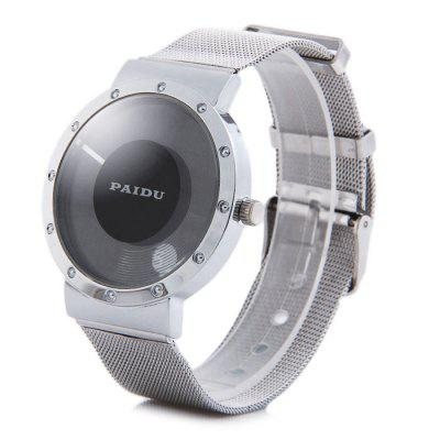 Paidu 58920 Japan Movt Male Quartz Rotational Wristwatch Steel Net Band Watch