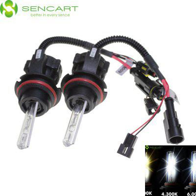 Sencart 9004 9007 HB1 HB5 55W 4500LM 4300K Natural White Light HID Xenon Car Headlamp DC 12V
