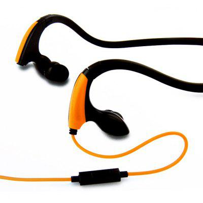 MDR-J039 Sweat Resistant 3.5mm Stereo Hand-Free Headphone for iPhone / iPod / MP3 / Tablet / Laptop Silicone Ear-Tips Outdoor Sports Earphone