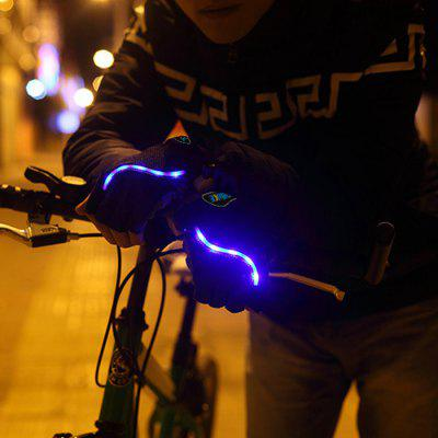 LEADBIKE Practical Outdoor Cycling Night Riding Half Finger Gloves with LED Light