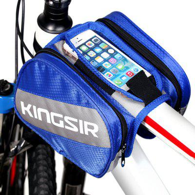 KingSir Bicycle Front Top Tube Frame Bag with Mobile Phone Pocket for iPhone 6
