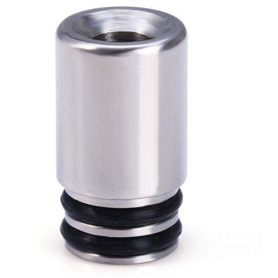 Metal Material E - Cigarette Mouthpiece Drip Tip with O Shaped Design