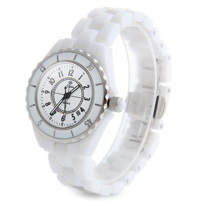 Jijia STL9005 Ceramic Band Date Display Female Quartz Watch