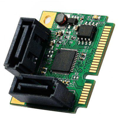 IOCREST 6Gbps Mini PCI-Express SATA 3.0 Controller Card for Desktop Laptop
