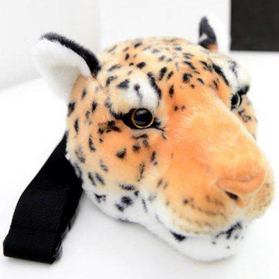 Women Animal Leopard Head Style Wasit Bag Fur Made