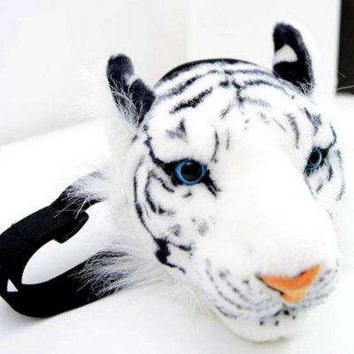 Women Animal Tiger Head Style Wasit Bag Fur Made