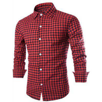 Shirt Collar Long Sleeve Shirt