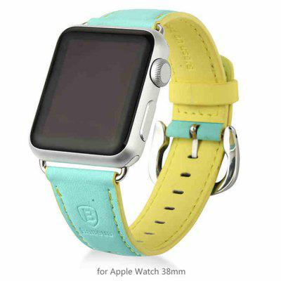Baseus Contrast Color Leather Band Strap for Apple Watch iWatch 38mm