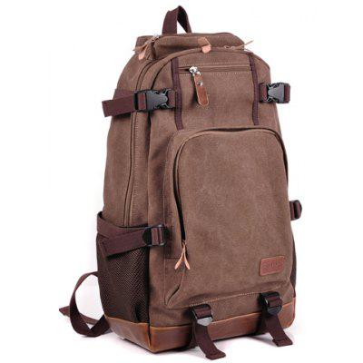 Trendy Buckles and Color Block Design Men's Backpack