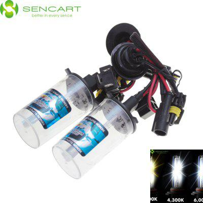 Pair of SENCART H4 P43T 55W 4500LM HID Xenon Car Head Light