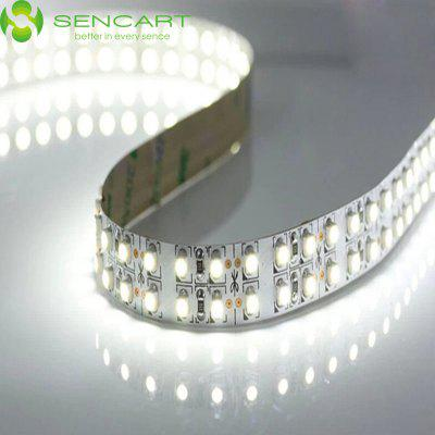 SENCART 5M Dual Row 3600LM 1200 SMD 3528 6000K LED Tape Light