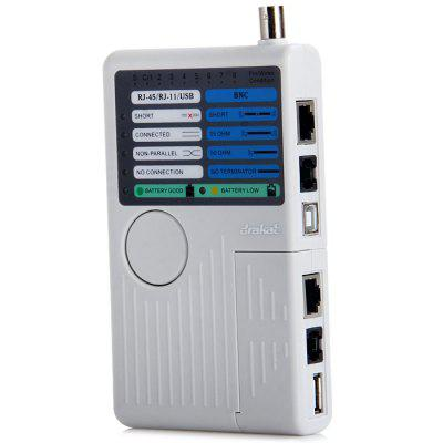 DK-421 Cable Tester RJ-45 RJ-11 USB BNC LED Light EIA / TIA for Outdoor Environment Two Remote Point